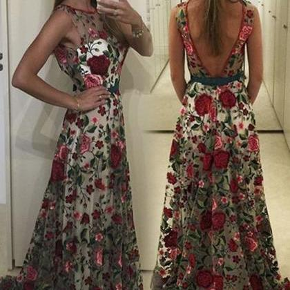 Charming Prom Dress, Long Prom Dres..