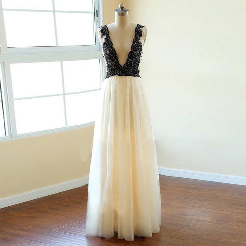 Charming Prom Dress,Sexy Prom Dress,Pearls Prom Dresses,Long Evening Dress,Formal Dresses F2117