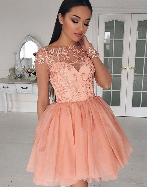 87d7ef511d1e Charming Prom Dress, Short Prom Dresses, Beading Tulle Prom Gown,Homecoming  Dress,