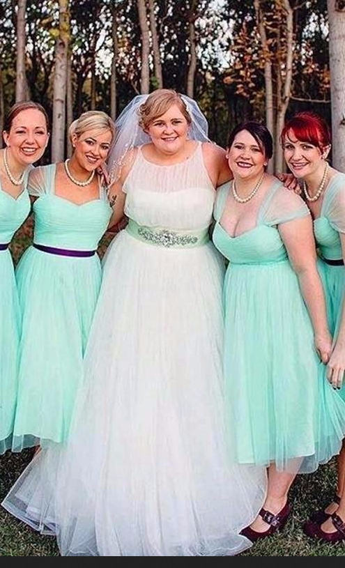 Charming Bridesmaid Dress,Plus Size Bridesmaid Dresses,Mint Green  Bridesmaid Dress F3008
