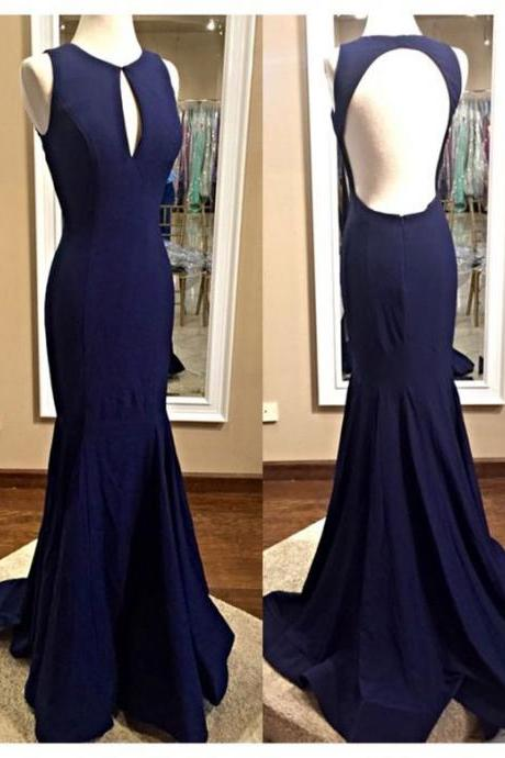 Sleeveless Prom Dress, Mermaid Prom Dresses,Elegant Simple Evening Dress,Formal Gown F2499
