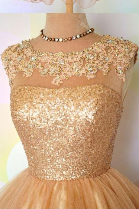 Tulle Prom Dress,Short Prom Dresses,Tulle Homecoming Dress,Prom Gown,Appliques Graduation Dress F2632