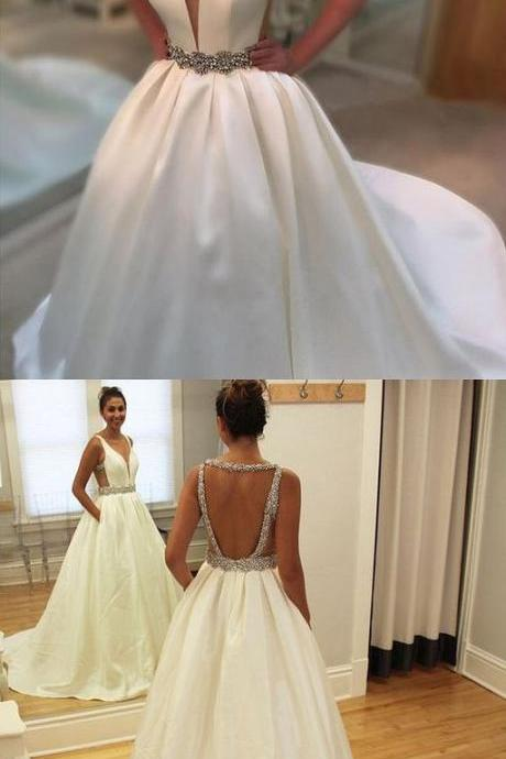 Charming Prom Dress,Elegant Prom Dress,Sexy V Neck Evening Dress,Formal Party Gown,Women Dress F2673