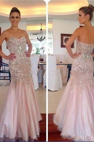 Charming Prom Dress,Elegant Mermaid Prom Dresses,Long Evening Dress,Tulle Evening Dresses,Formal Gown F2763