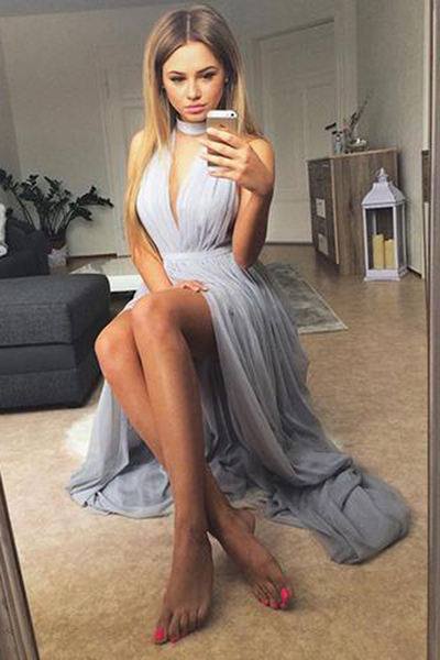 Sexy Prom Dress,High Slit Prom Dresses,Sexy Evening Dress,Long Evening Dresses,Sleeveless Prom Dresses,Party Dress F2854