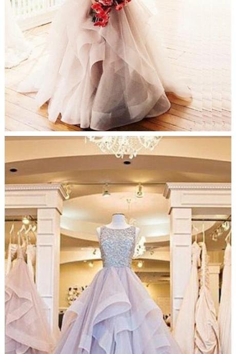 Charming Prom Dress,Sexy Prom Dress,Beaded Evening Dress,Tulle Ball Gown Prom Dresses F3014