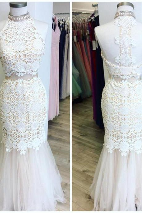 Charming Prom Dress,Sexy Lace Prom Dress, Sleeveless Lace Mermaid Evening Dress,Formal Dresses F3137