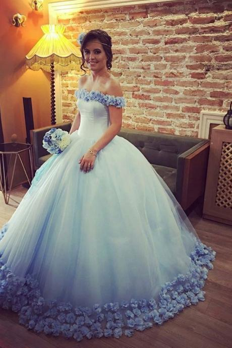 Ball Gown Wedding Dress,Tulle Wedding Dress,Charming Wedding Gown,Elegant Bridal Dresses F3664