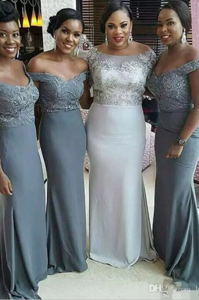 Charming Bridesmaid Dress,Mermaid Bridesmaid Dresses,Lace Wedding Party Gown F3824
