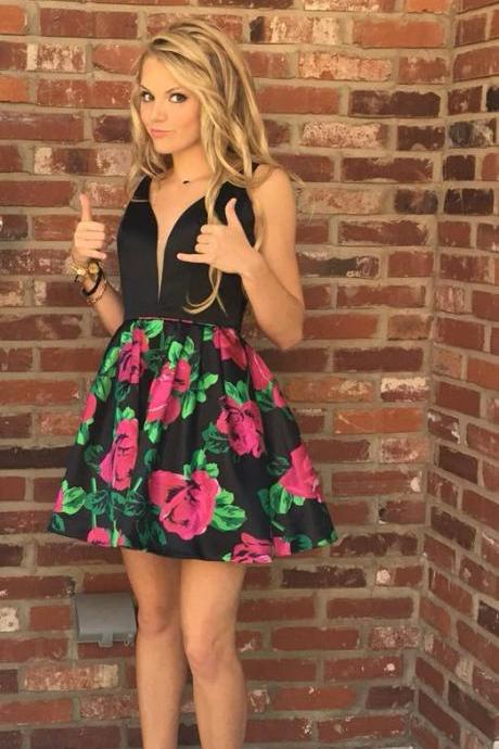 Charming Prom Dress, Sleeveless Short Prom Gowns, Elegant Homecoming Dress, Sexy Evening Party Dress ,Prom Dresses F3934