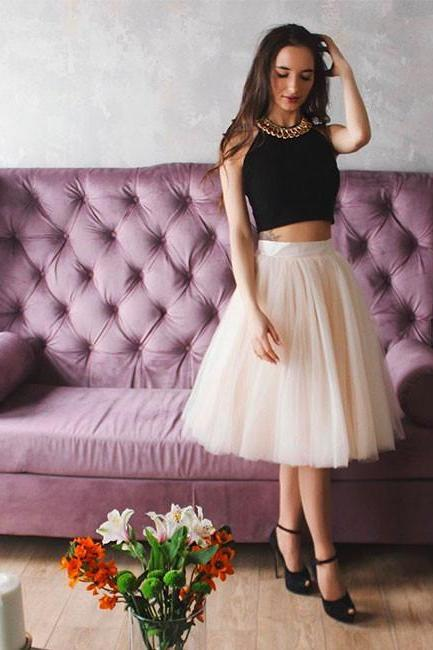 Charming Prom Dress, Tulle Prom Dresses, Sleeveless Prom Dress, Sexy Evening Party Dress, Short Prom Dresses F3939