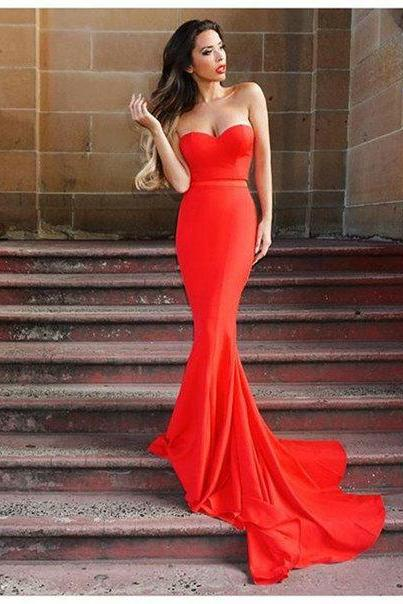 Charming Prom Dress, Sleeveless Mermaid Prom Dresses, Long Prom Dress, Sexy Evening Party Dress F3969