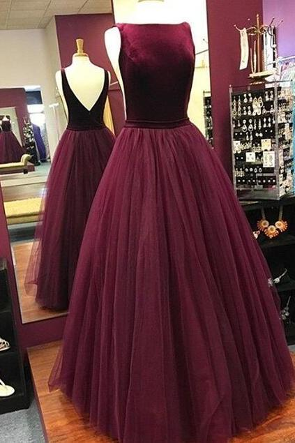 Charming Prom Dress, Sleeveless Prom Dress, Elegant Tulle Prom Dresses, Long Evening Dress, Formal Dress F4415