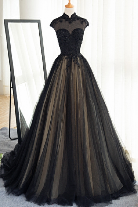 Charming Prom Dress, Tulle Evening Dress, Sexy Prom Dress , Long Formal Dress F4492