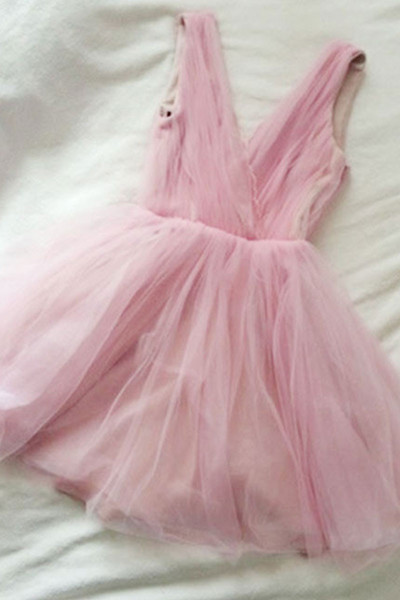 Pink Short Prom Dress, Mini Sexy Sleeveless Party Dress for Teens