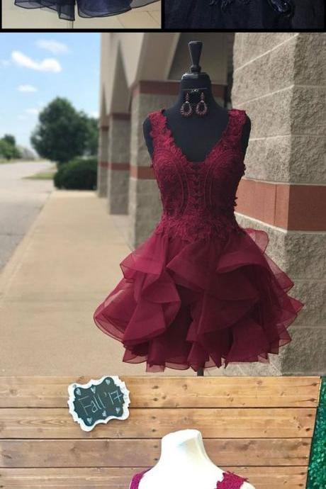 Charming Sleeveless Prom Dress, Tulle Prom Dresses, Sexy Short Prom Gown