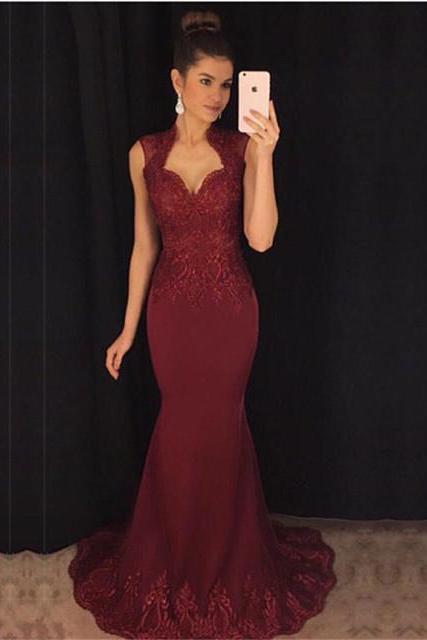 Charming Evening Dress, Long Prom Dress, Sexy Mermaid Prom Dresses, Formal Gown