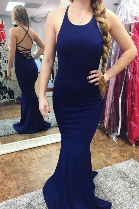 Sexy Sleeveless Prom Dress, Backless Mermaid Prom Dresses, Formal Long Evening Dress