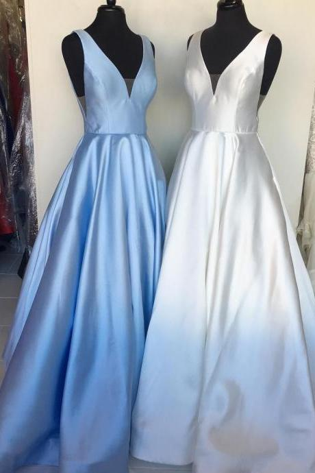 Charming Prom Dress, A Line Evening Dress, Sleeveless Long Prom Dresses, Formal Dress