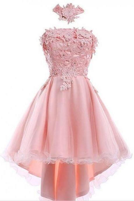 2018 Pink Short Prom Dress, Lovely Prom Dress, Mini Party Dress