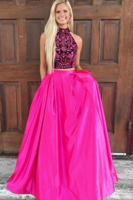 Charming Prom Dress, Elegant Prom Dresses, Crystal Beading Homecoming Dress, Long Evening Dress