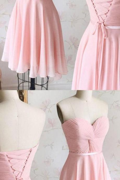 Charming Prom Dress, Chiffon Prom Dresses, Short Prom Gowns, Simple Homecoming Dress