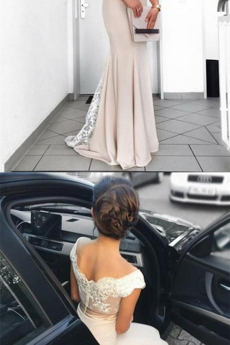Sexy Lace Mermaid Prom Dresses, Long Evening Dress, Formal Gown
