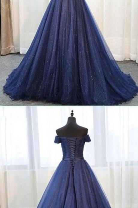 Sexy Off the Shoulder Long Evening Dress, Formal Evening Gown
