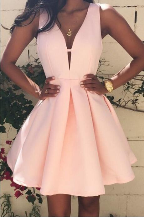 Prom Dress,Prom Gown,Pink Homecoming Dress,Short Homecoming Dresses