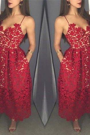 Charming Prom Dress,Sleevelss Prom Dress,Lace Backless Party Dress,Sexy Prom Gown F449