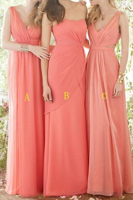 Charming Prom Dress,Sleeveless Chiffon Prom Dress ,Long Evening Dress,Bridesmaid Dress F600