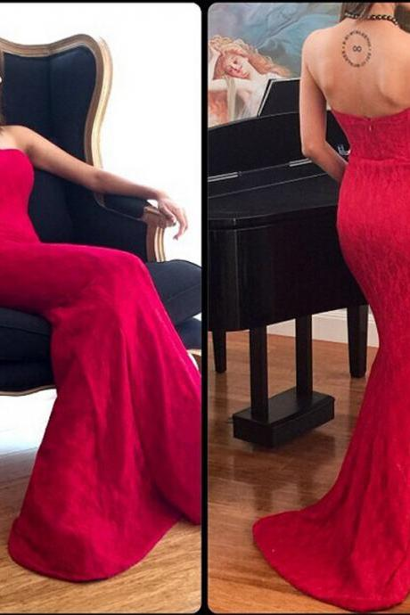 Sexy Evening Dress,Backless Mermaid Evening Gowns,Long Prom Dresses,Formal Gown F641