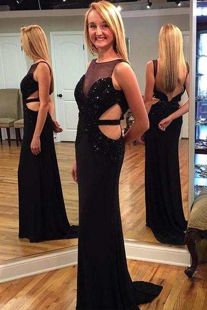 Popular Long Prom Dresses,Chiffon Formal Prom Dress,Backless Evening Dress,Women Dress F1527