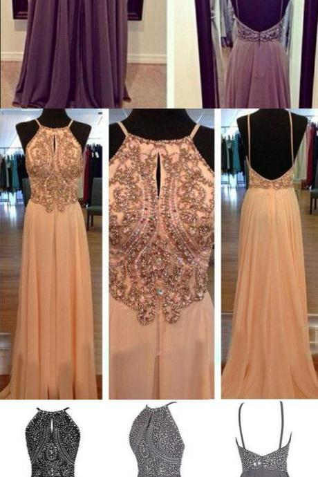 New Arrival Sexy Prom Dress,Sexy Backless Prom Dresses with Beaded,Sleeveless Prom Dresses, Evening Dress,Long Prom Gown F1752