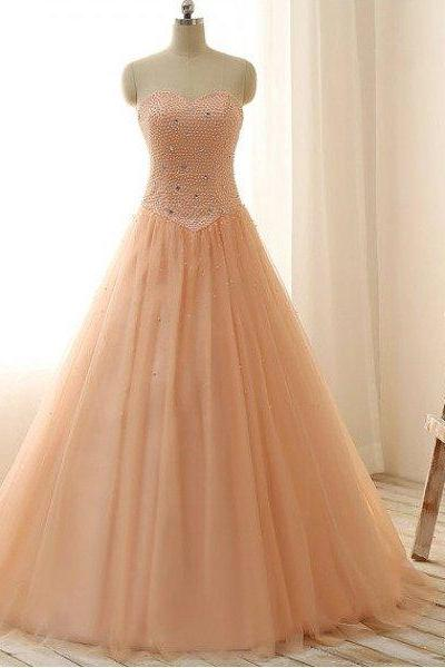 Charming Prom Dress,Tulle Ball Gown Prom Dress,Long Prom Dresses,Formal Evening Dress F1877