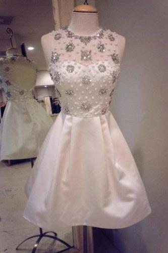 Simple Prom Dresses,Modest Prom Gown,Short Prom Dresses,Prom Gowns F1915
