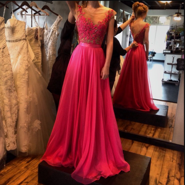 Charming Prom Dress, Sexy Red Prom Dresses, Chiffon Prom Dresses with Beaded,Long Evening Dress,Formal Dresses F2527