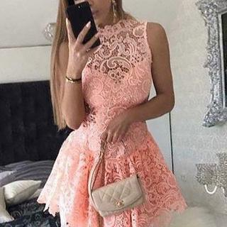 Charming Prom Dress,Sexy Lace Prom Gown,Sleeveless Party Dress,Mini Prom Dresses F2653