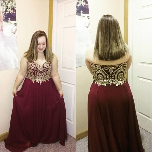 Charming Prom Dress,Sexy Plus Size Prom Dress, Appliques Chiffon Evening Dress,Elegant Homecoming Dress,Long Prom Dresses F3126