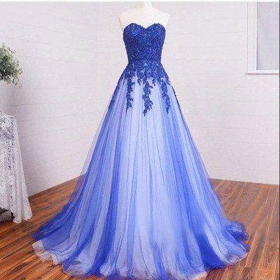 Charming Prom Dress,Long Appliques Evening Dress,Long Prom Dress,A Line Tulle Prom Dresses F3601