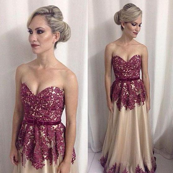 A Line Prom Dress,Tulle Prom Dresses,Lace Evening Dress,Elegant Homecoming Dress,Sexy Prom Dress F3724