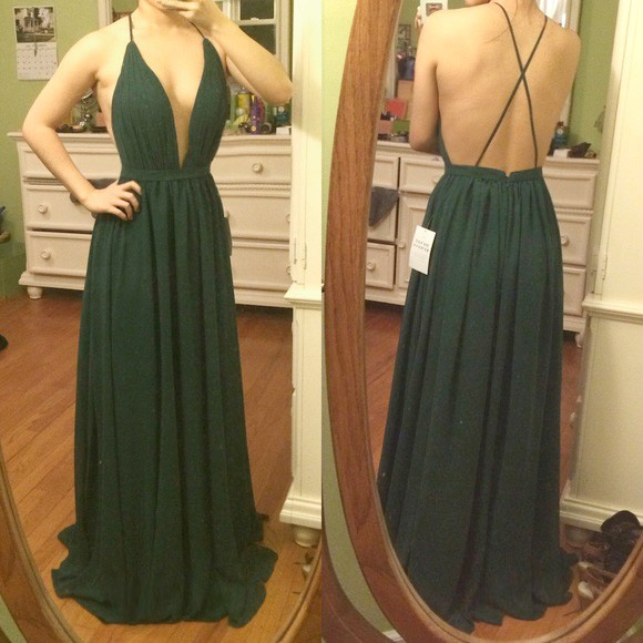 Charming Prom Dress, Sexy A Line Prom Dresses, Open Back Evening Party Dress, Long Prom Dresses ,Chiffon Prom Gown F4104