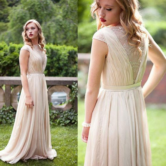 Sexy Cap Sleeve Long Evening Dress, Formal Long Prom Dresses, Wedding Party Dresses