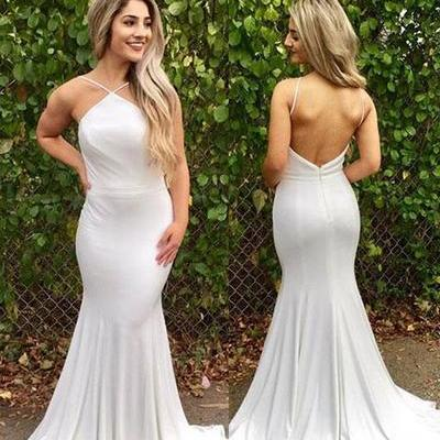 Fashion Long Formal Prom Dress, Sexy Backless Mermaid Long Evening Dress Party Dress