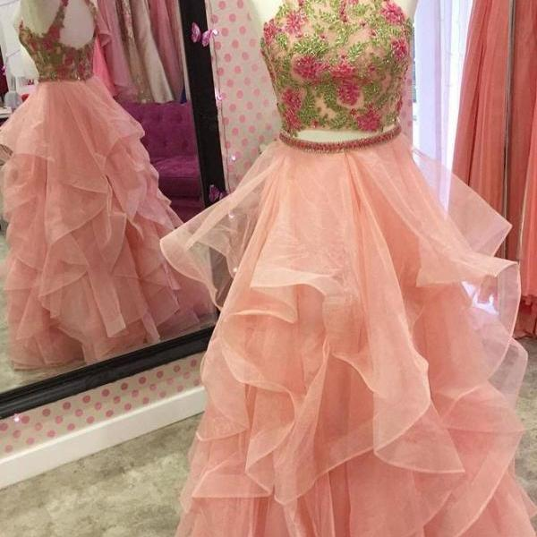 Charming Prom Dress, Sexy Lace Prom Dresses, Tulle Homecoming Dress, Long Evening Dress
