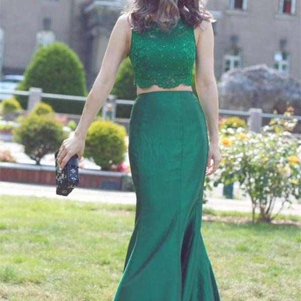New Arrival Sleeveless Two Piece Prom Dress,Sexy Prom Dresses,Long Evening Dress,Formal Gown F1303