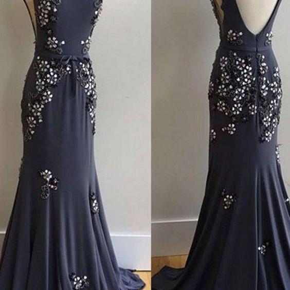 Evening Dress,Mermaid Evening Dresses,Formal Evening Gown,Scoop Prom Dresses F1906