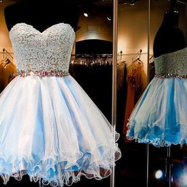 Tulle Homecoming Dress,Elegant Homecoming Dresses,Short Prom Dress,Prom Party Gown,Cocktail Dresses F1909